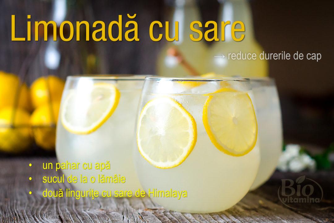 Limonadă cu sare pentru dureri de cap